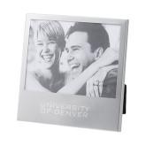 Silver 5 x 7 Photo Frame-University of Denver Engraved