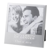 Silver 5 x 7 Photo Frame-University of Denver Engraved, Personalized