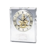 Grand Crystal Clock in Rosewood Box-Arched Denver Engraved, Personalized
