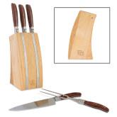 Laguiole 5 Piece Knife Block Set-DU  Engraved