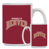 Full Color White Mug 15oz-Arched University of Denver