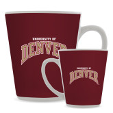 12oz Ceramic Latte Mug-Arched University of Denver