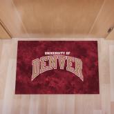 Full Color Indoor Floor Mat-Arched University of Denver