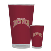 Full Color Glass 17oz-Arched University of Denver
