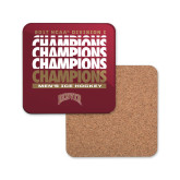 Hardboard Coaster w/Cork Backing-2017 NCAA Division I Mens Hockey Champions