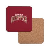 Hardboard Coaster w/Cork Backing-University of Denver