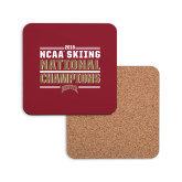 Hardboard Coaster w/Cork Backing-2018 NCAA Skiing National Champions