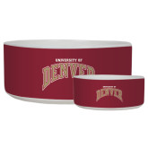 Ceramic Dog Bowl-Arched University of Denver