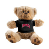 Plush Big Paw 8 1/2 inch Brown Bear w/Black Shirt-Arched Denver