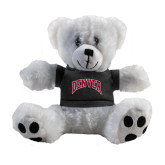 Plush Big Paw 8 1/2 inch White Bear w/Black Shirt-Arched Denver