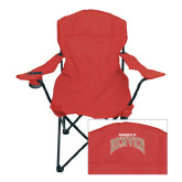 Deluxe Cardinal Captains Chair-Arched University of Denver