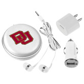 3 in 1 White Audio Travel Kit-DU