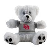Plush Big Paw 8 1/2 inch White Bear w/Grey Shirt-DU
