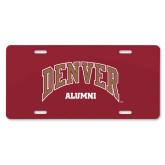 License Plate-Denver Alumni