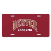 License Plate-Denver Grandma