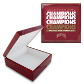 Red Mahogany Accessory Box With 6 x 6 Tile-2017 NCAA Division I Mens Hockey Champions