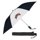 42 Inch Slim Stick Black/White Vented Umbrella-University of Denver