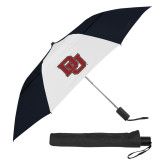 42 Inch Slim Stick Black/White Vented Umbrella-DU