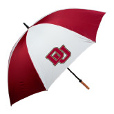 62 Inch Cardinal/White Umbrella-DU