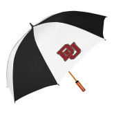 62 Inch Black/White Vented Umbrella-DU