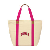 Natural/Tropical Pink Saratoga Tote-Arched Denver 2 Color Version