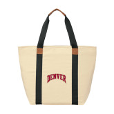 Natural/Black Saratoga Tote-Arched Denver 2 Color Version
