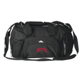 High Sierra Black Switch Blade Duffel-Arched Denver 2 Color Version