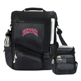 Momentum Black Computer Messenger Bag-Arched Denver 2 Color Version