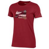Ladies Champion Cardinal 2017 NCAA Mens National Championship Womens TShirt-