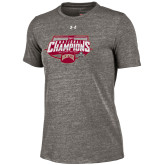 Carbon Heather Under Armour NCAA Mens Hockey Champions Women's Shirt-