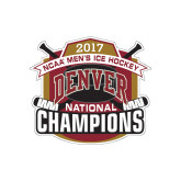 2017 Men''s Ice Hockey Champions 4 inch x inch Decal-