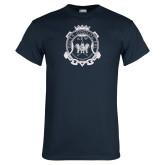 Navy T Shirt-Delta Epsilon Psi Shield