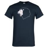 Navy T Shirt-Lion Head