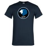 Navy T Shirt-Lion Est 1998 Distressed
