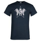 Navy T Shirt-Triple Lions Star