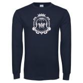 Navy Long Sleeve T Shirt-Delta Epsilon Psi Shield