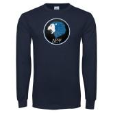 Navy Long Sleeve T Shirt-Lion