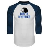White/Navy Raglan Baseball T Shirt-Men of Reverence