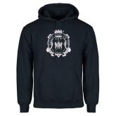 Navy Fleece Hoodie-Delta Epsilon Psi Shield