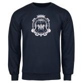 Navy Fleece Crew-Delta Epsilon Psi Shield