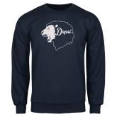 Navy Fleece Crew-Lion Head Depsi