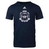 Adidas Navy Logo T Shirt-Delta Epsilon Psi Shield