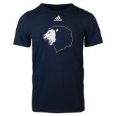 Adidas Navy Logo T Shirt-Lion Head