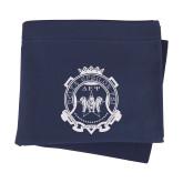 Navy Sweatshirt Blanket-Delta Epsilon Psi Shield