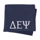 Navy Sweatshirt Blanket-Greek Letters