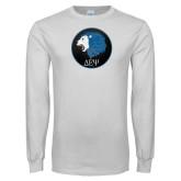 White Long Sleeve T Shirt-Lion