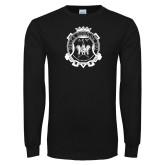 Black Long Sleeve T Shirt-Delta Epsilon Psi Shield