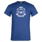 Royal T Shirt-Delta Epsilon Psi Shield