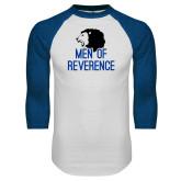 White/Royal Raglan Baseball T Shirt-Men of Reverence