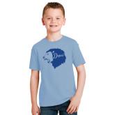 Youth Light Blue T Shirt-Lion Head Depsi